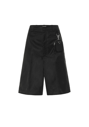 High-rise recycled-nylon culottes