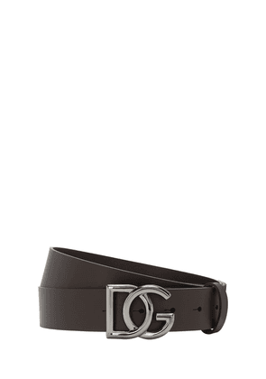 35mm Leather Belt W/ Dg Buckle
