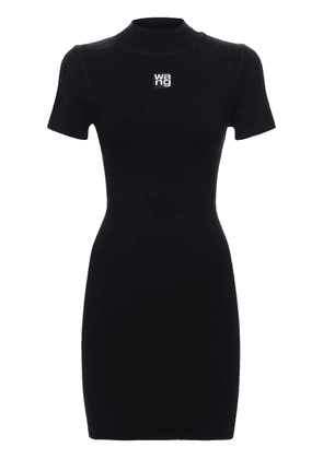 Logo Stretch Jersey Mini Dress