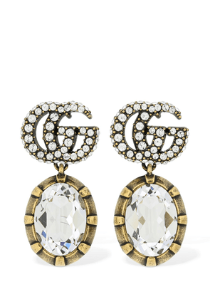 Gg Marmont Crystal Embellished Earrings