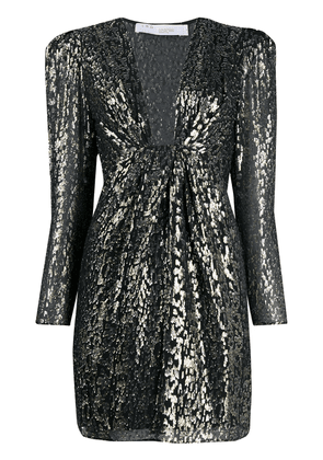 IRO shimmer leopard print dress - Black
