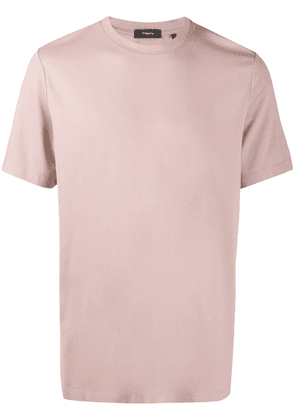 Theory faux leather midi skirt - PINK