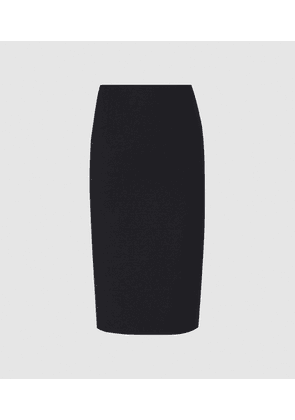 Reiss Hayes - Tailored Pencil Skirt in Navy, Womens, Size 4