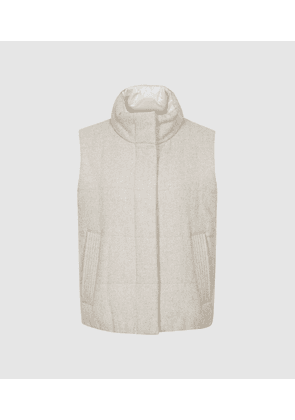 Reiss Ivy - Padded Gilet in Oatmeal, Womens, Size XS