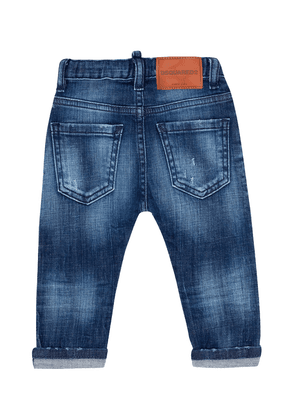 Dsquared2 Kids Distressed Jeans Unisex Navy Blue