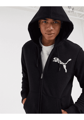 Puma full zip hoody in black