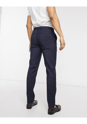 Tommy Hilfiger striped slim fit trousers-Navy