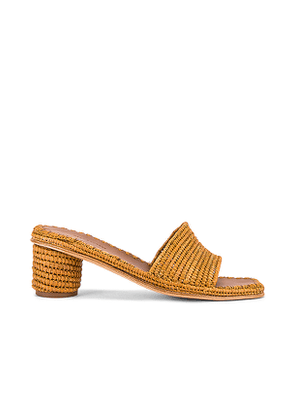 Carrie Forbes Bou Sandal in Brown,Cognac. Size 37,39,40.