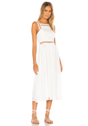 House of Harlow 1960 Marcella Midi Dress in White. Size L,M,XL.