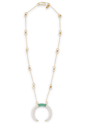 Aurélie Bidermann Gold-plated, Resin And Cord Necklace Woman Gold Size --