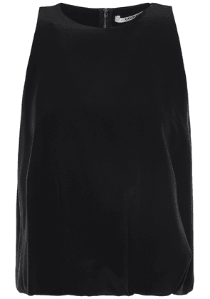 Chalayan Cropped Layered Silk Crepe De Chine Top Woman Black Size 44