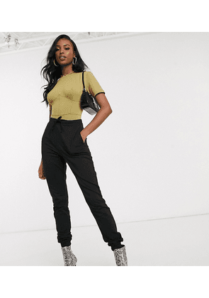 ASOS DESIGN Tall basic jogger with tie-Black