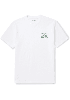 Carhartt WIP - Embroidered Cotton-Jersey T-Shirt - Men - White