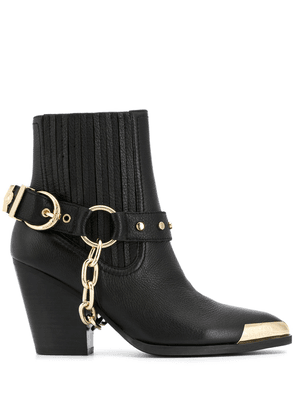 Versace Jeans Couture chain buckle detail boots - Black