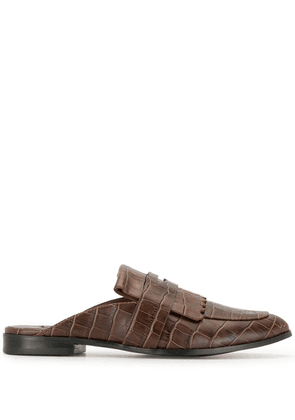 Senso slip-on croc effect loafers - Brown