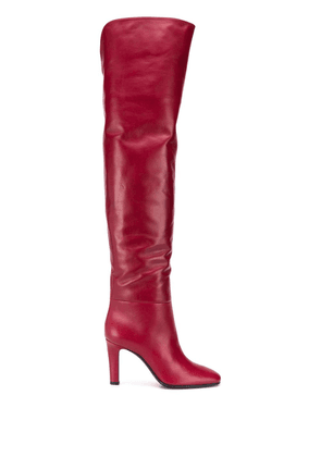 Saint Laurent Jane over-the-knee boots - Red