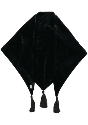 Saint Laurent tassel scarf - Black