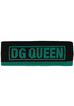 Dolce & Gabbana knitted sweatband - Black