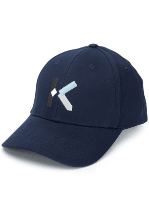 Kenzo embroidered-logo baseball cap - Blue