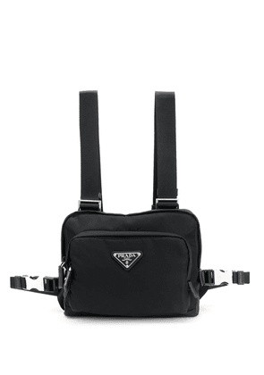 Prada harness chest front pack - Black