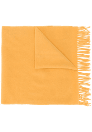 Moncler classic fringed scarf - Yellow
