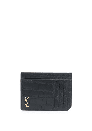 Saint Laurent embossed crocodile effect cardholder - Black