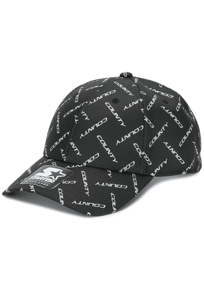 MARCELO BURLON COUNTY OF MILAN County logo print cap - Black