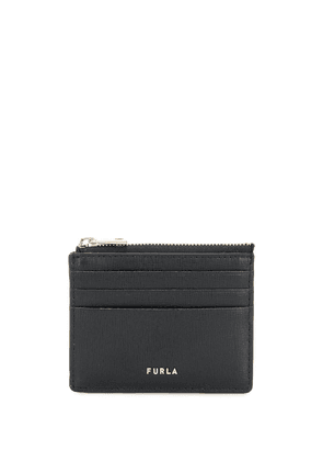 Furla logo card case - Black