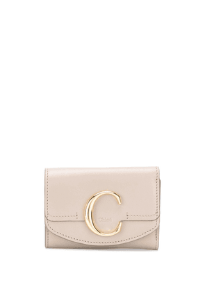 Chloé mini C tri-fold wallet - Grey