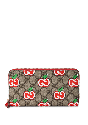 Gucci GG apple zip-around wallet - Neutrals