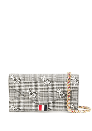 Thom Browne zebra pebble grain wallet - Black