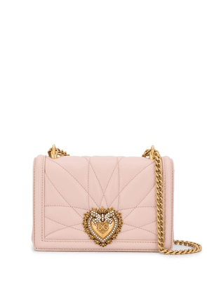 Dolce & Gabbana Devotion heart crossbody bag - Neutrals
