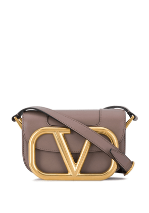 Valentino Garavani Supervee leather crossbody bag - Grey