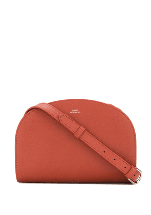 A.P.C. zipped leather crossbody bag - Brown