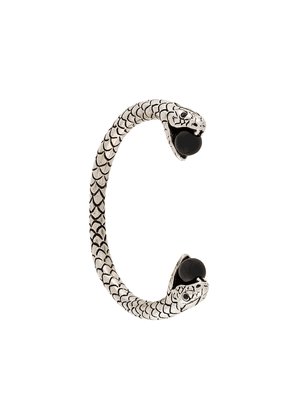 Saint Laurent Snake cuff bracelet - Metallic