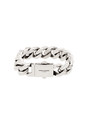 Saint Laurent silver tone chain bracelet