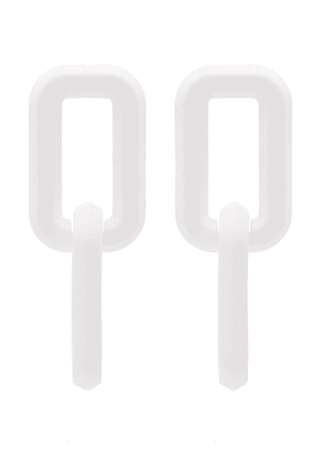 Off-White link drop earrings