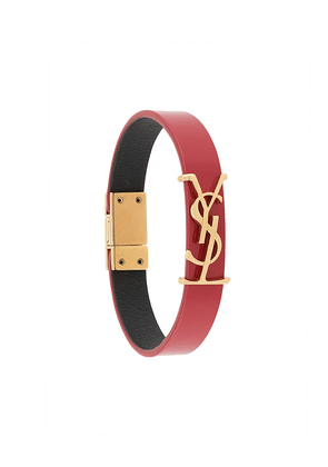 Saint Laurent monogram leather bracelet - Red