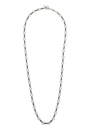 Saint Laurent Silver tone Little Rope chain necklace
