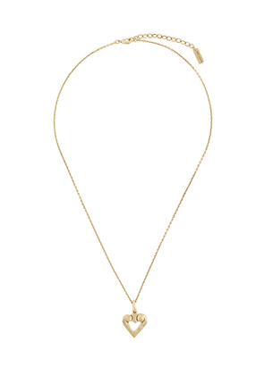 Saint Laurent heart-shaped pendant necklace - GOLD
