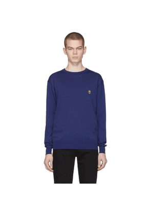 Moschino Navy Embroidered Logo Sweater
