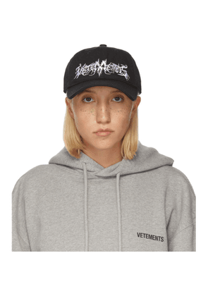 VETEMENTS Black Goth Cap