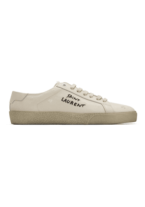 Saint Laurent Off-White Worn-Look Court Classic SL/06 Sneakers