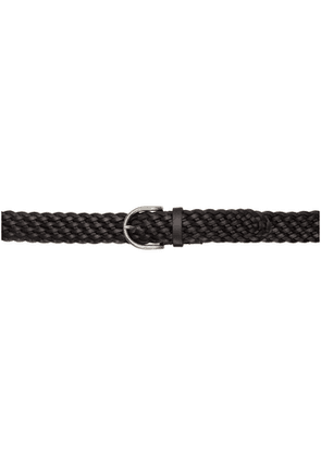 Saint Laurent Black Vegetale Browny Belt