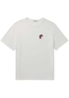 Our Legacy - Embroidered Cotton-Jersey T-Shirt - Men - White