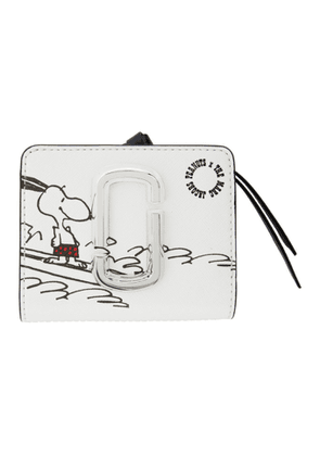 Marc Jacobs White Peanuts Edition Mini Snapshot Compact Wallet