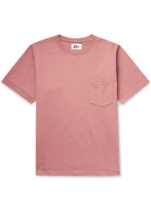 Pilgrim Surf Supply - Logo-Embroidered Cotton-Jersey T-Shirt - Men - Pink
