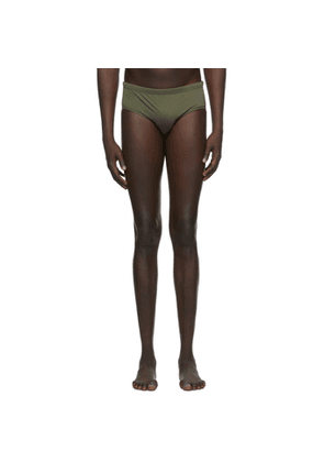 Dsquared2 Green and Black Back Logo Swim Shorts