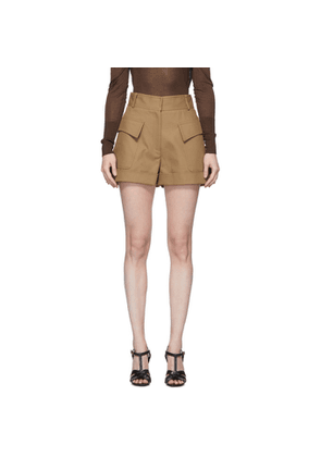 Victoria Beckham Tan Tailored Shorts