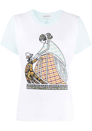 LANVIN Mother and Child patchwork T-shirt - Blue